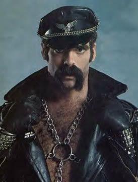 Horseshoe Mustache Biker