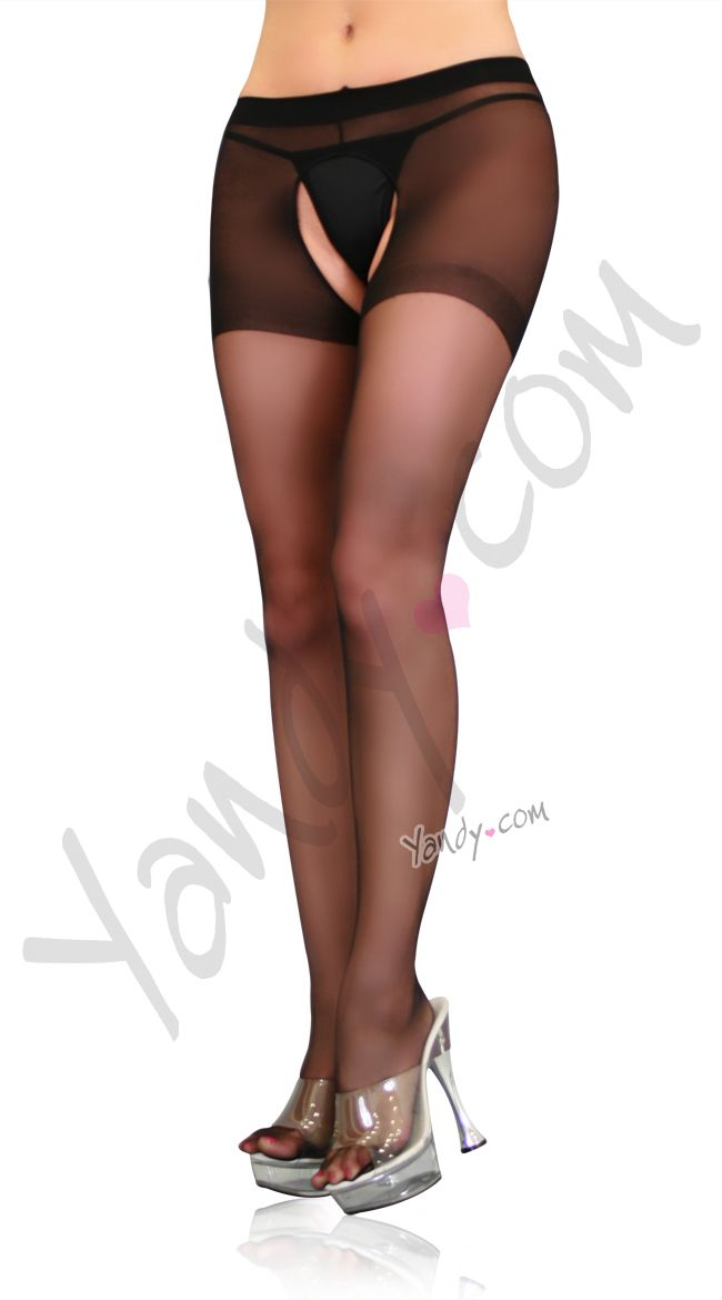 bc903cb6e Spice up your night with these sheer crotchless pantyhose! Sale  2.50