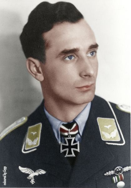 """✠Günther """"Hupatz"""" Seeger Seeger scored 56 victories in 504 missions serving in JG2 & JG53. All his victories were recorded over the Western front and included eight four-engine bombers."""