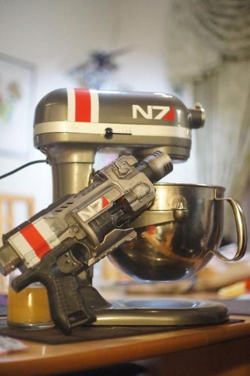 Mass Effect N7 mixer (and Nerf gun).
