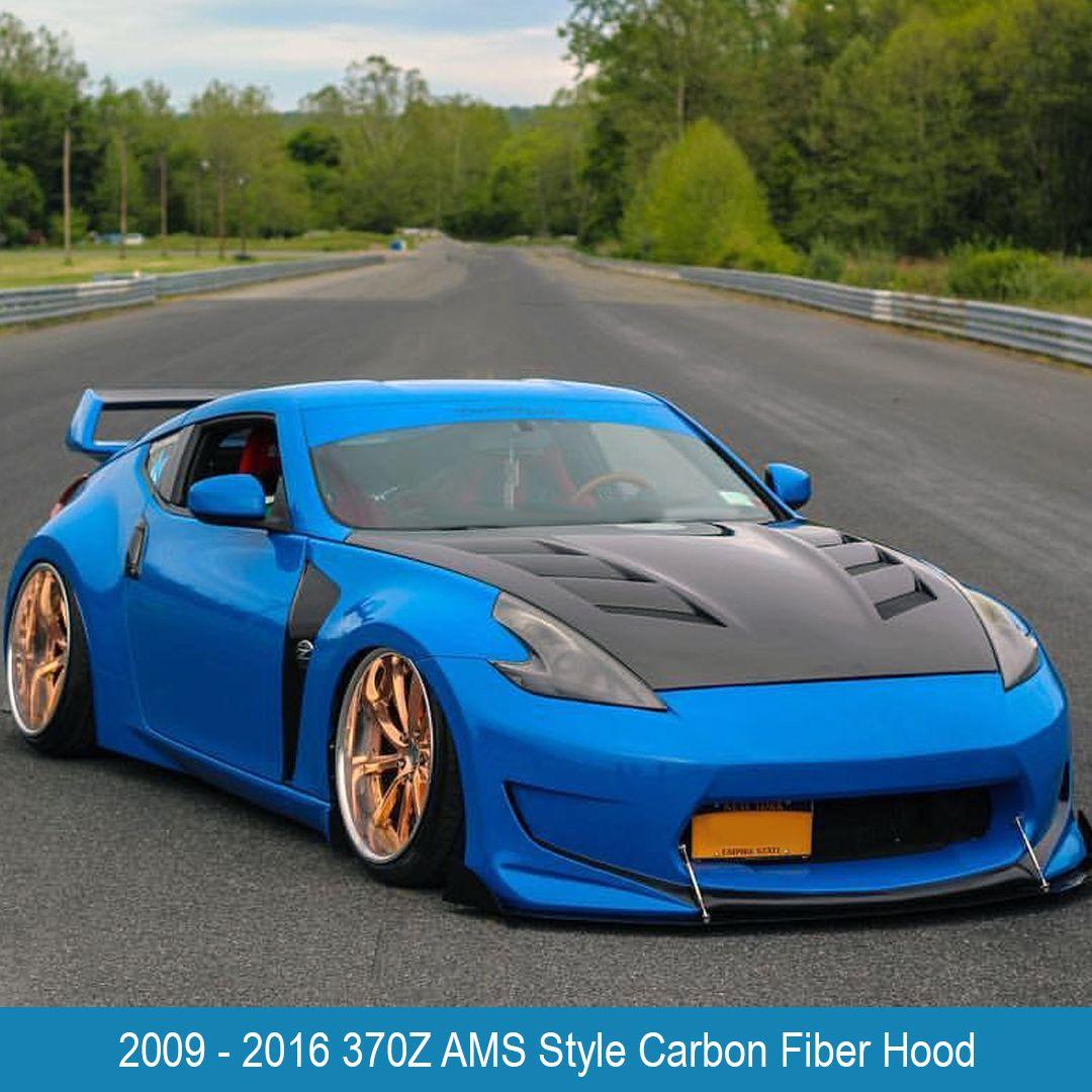 2009 2016 Nissan 370Z AMS Style Carbon Fiber Hood VIS