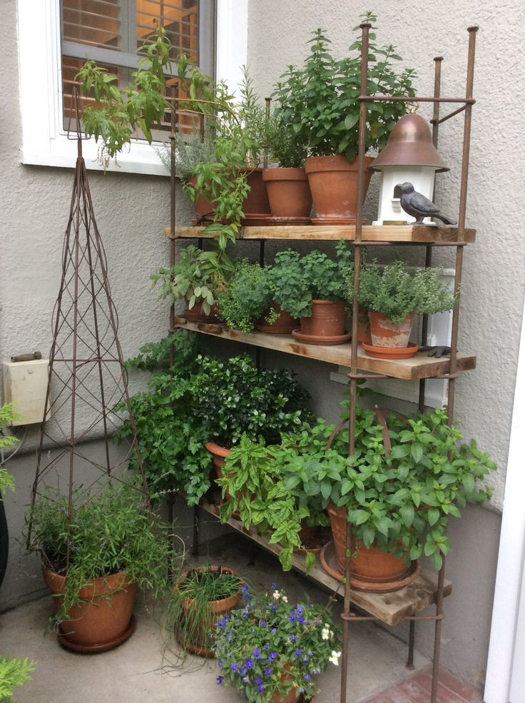 The Great Outdoors Small Space Style 10 Beautiful Tiny Balconies Small Herb Gardens