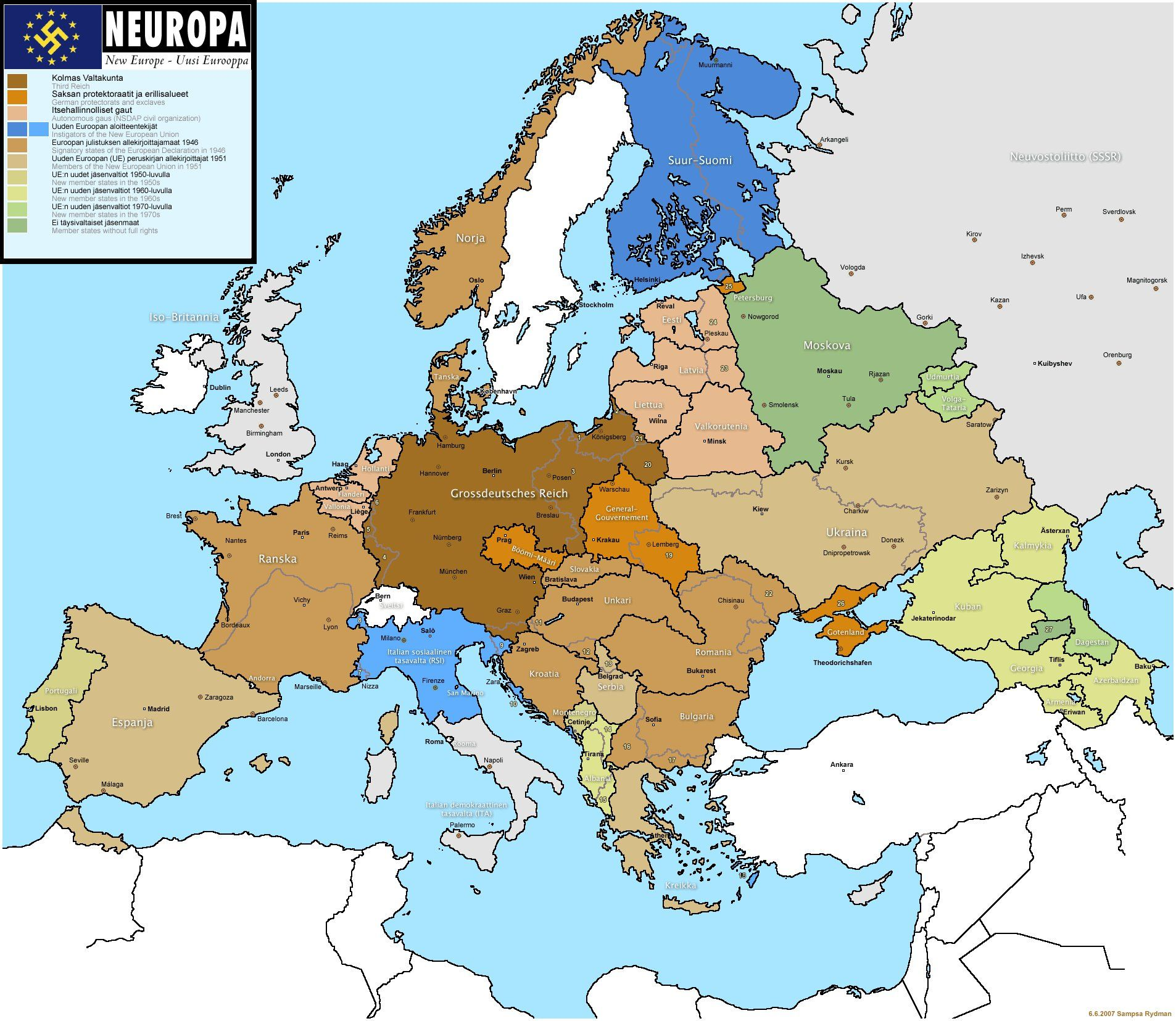 Neuropa The World According To Pinterest History - Map of europe ww2