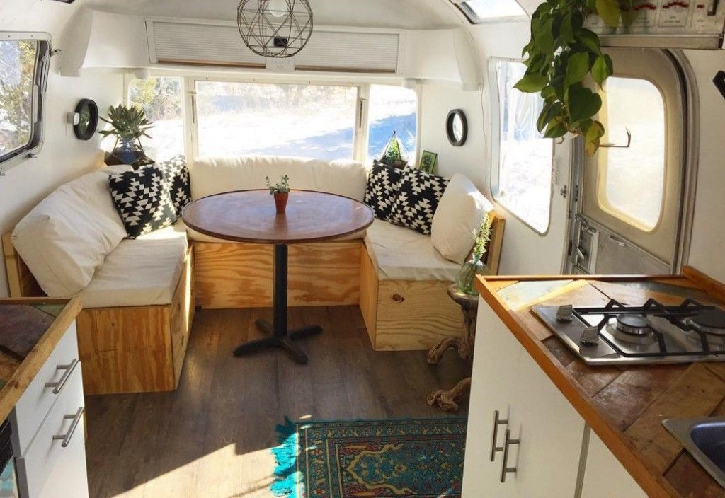 Living Tiny Melissa And Rusty's New Mexico Airstream Trailer Amazing Airstream Interior Design