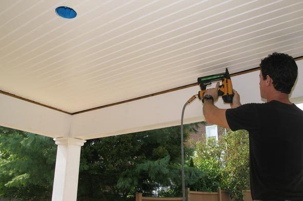 VIDEO: On The Porch: Installing A Beadboard Ceiling