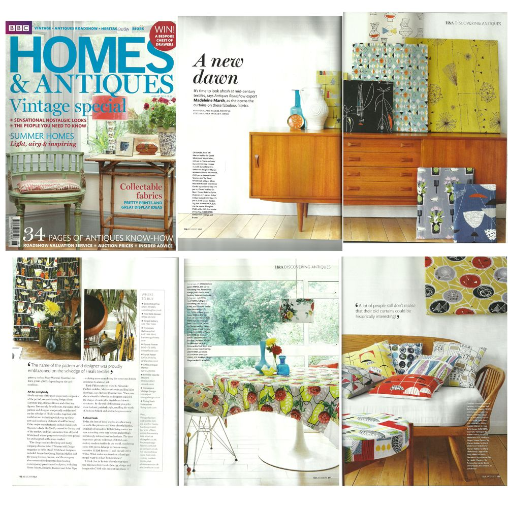 Homes And Antiques Magazine Featuring Some Of The Vintage