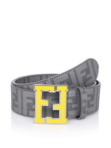 334de726509ab 50% OFF Fendi Men's Logo Belt (Grey)   Accessories.. the final ...