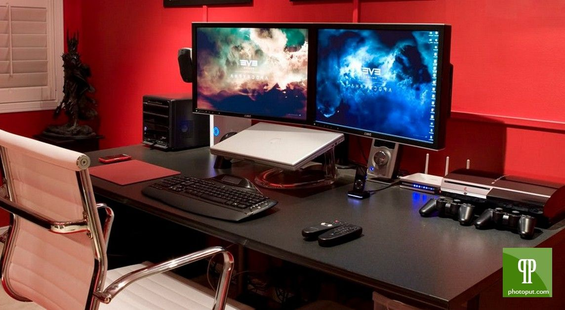 Gaming Computer Desk Ikea Work Stations Pinterest Gaming