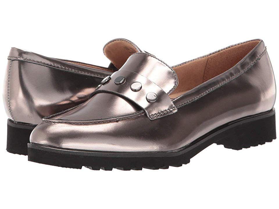 Naturalizer Gaia Women's Shoes Pewter Mirror Metallic Leather #metallicleather