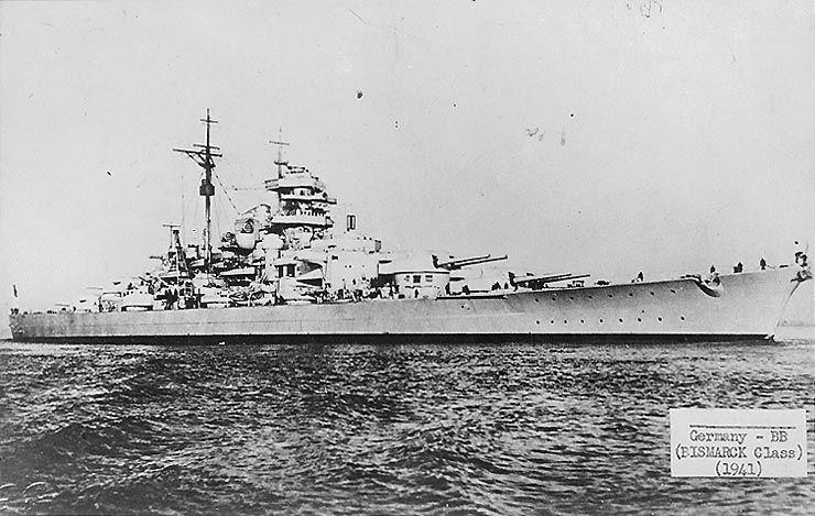 German battleship Bismarck, circa Aug 1940, photo 1 of 2
