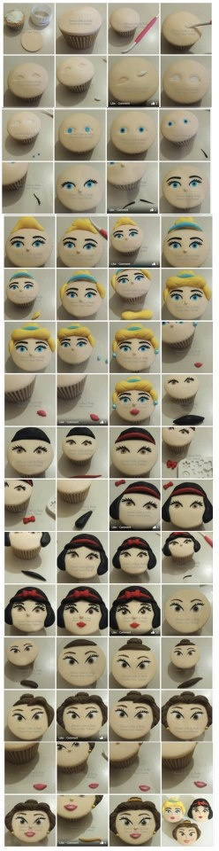 step by step cupcake face tutorial.... May be hard but ... Wait, nope I can't do that. :(