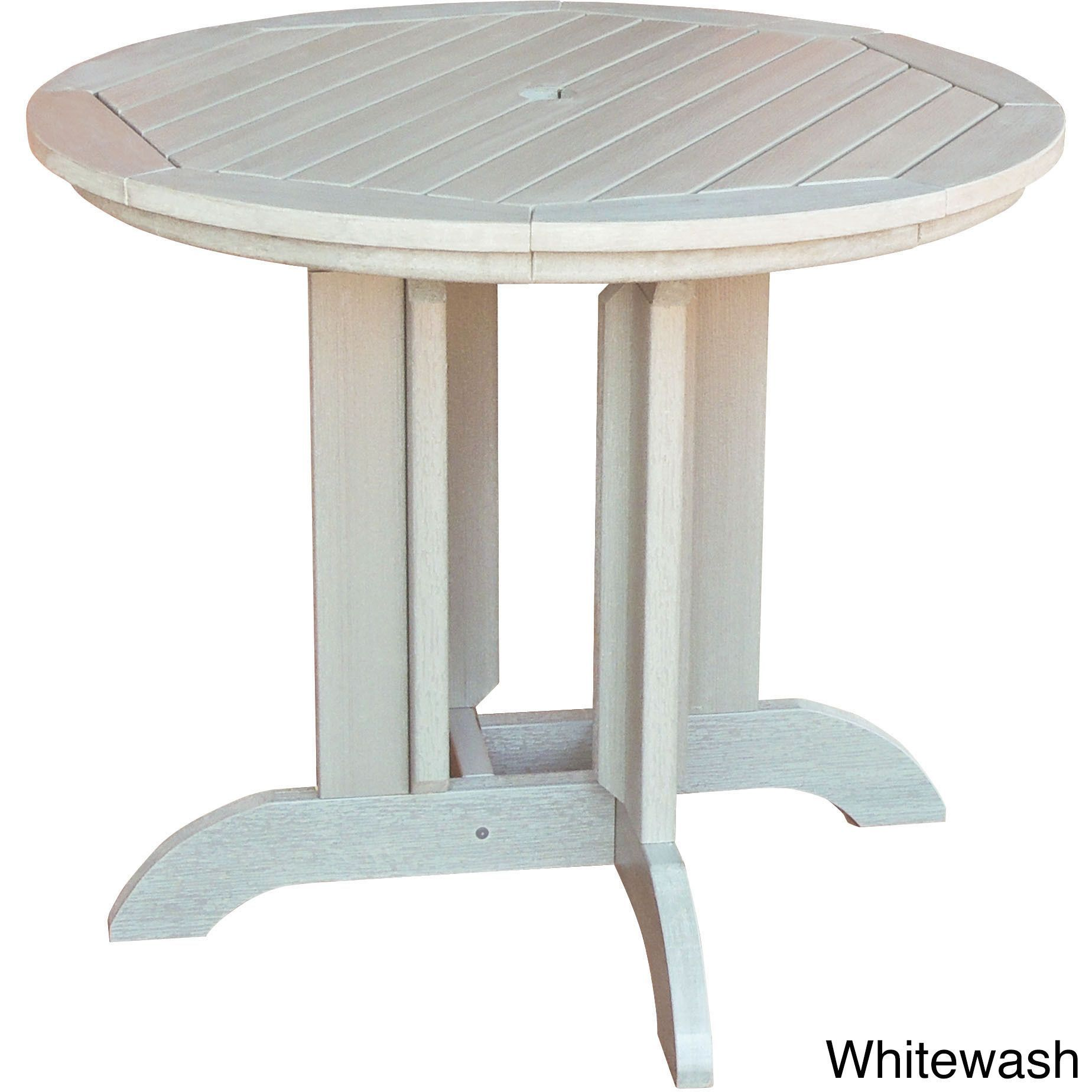 Highwood 36 Inch Round Dining Table Black Patio Furniture Plastic