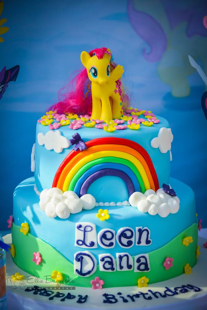 My Little Pony Birthday Party Party Cakes Cupcakes Cake