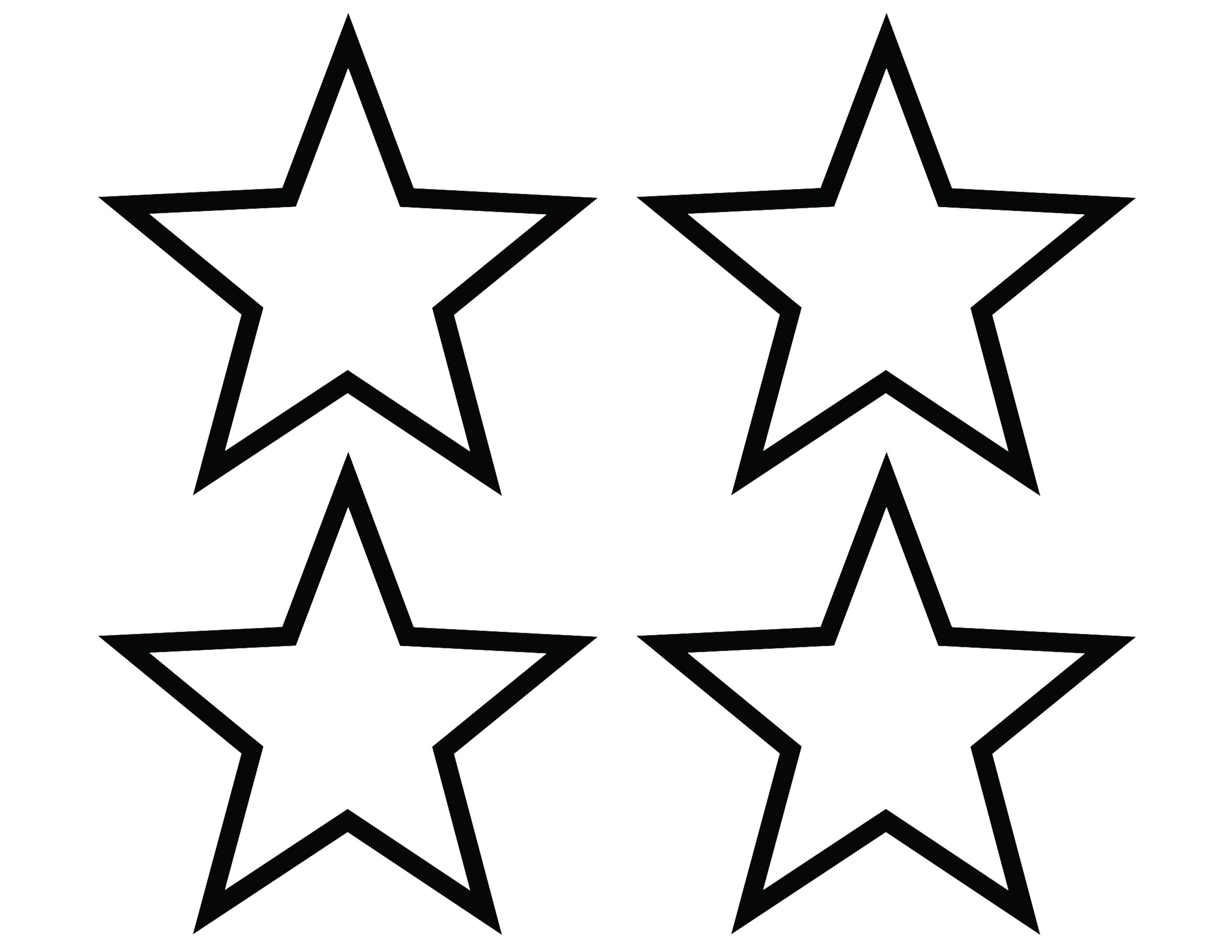 A Template For Star-shaped Name Tags For Preschoolers