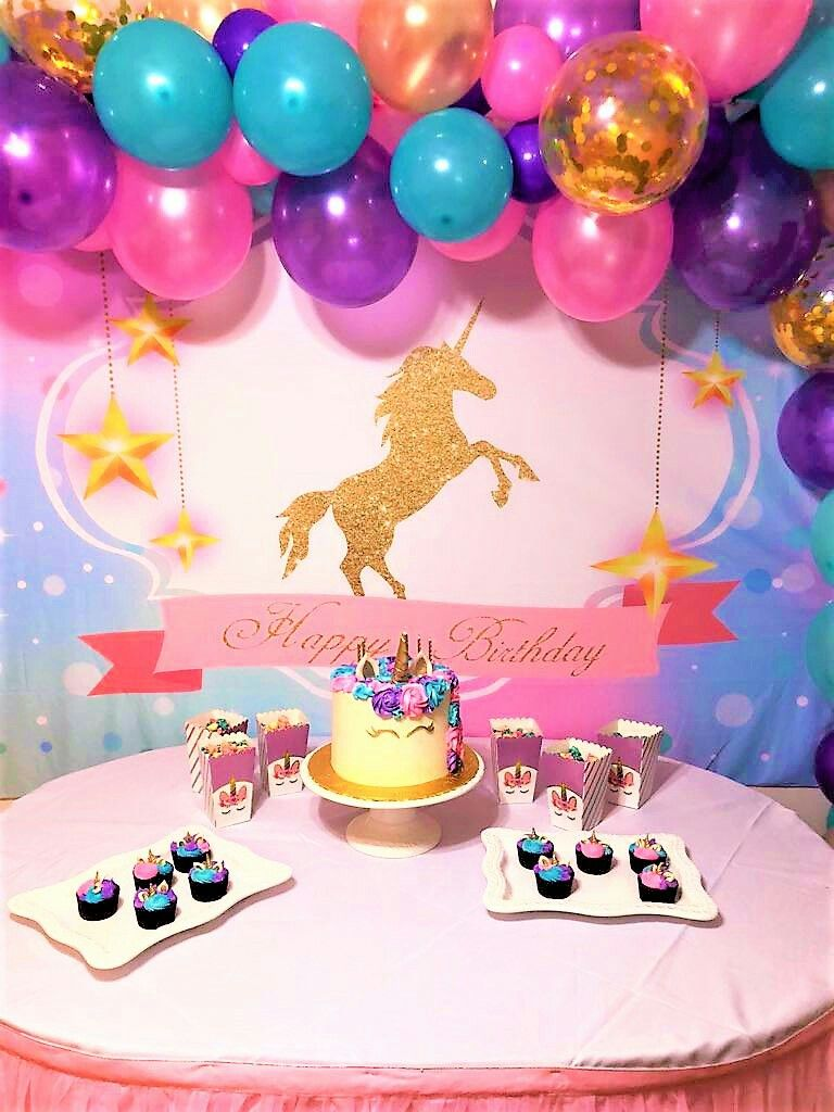 Party Decorations For Unicorn Birthday Parties 8th