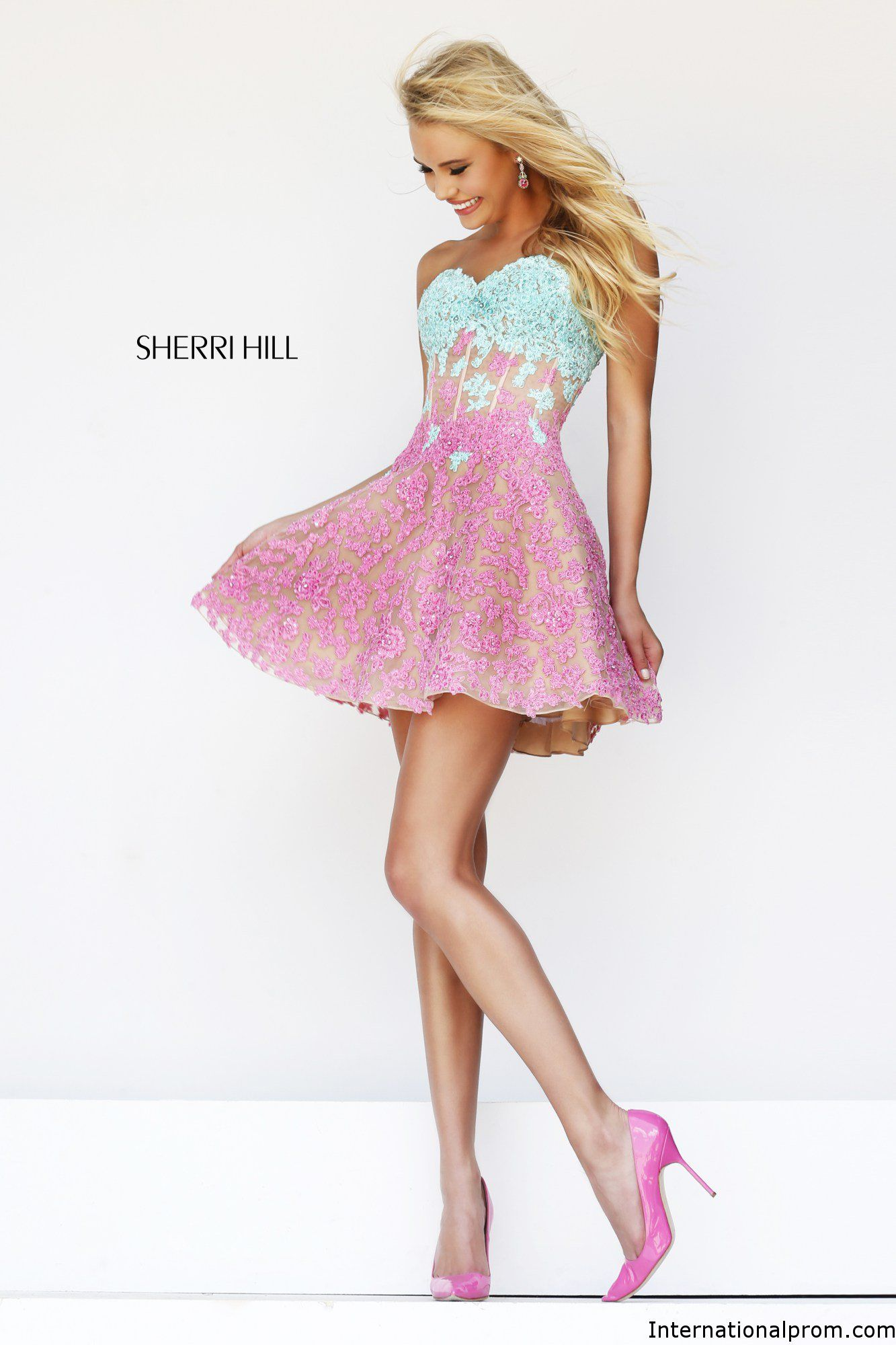 Two tone ombre lace so cut Sherri Hill 11101 #ipaprom | Past Prom ...