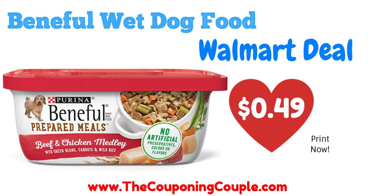 Beneful Wet Dog Food Tub Only 0.49 Walmart! Dog food