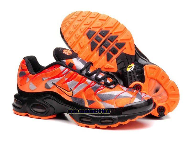 watch 09eb9 6a4f5 Boutique Officielle Nike Air Max TN Tuned Chaussures Pas Cher Pour Homme  Orange - Gris - Noir
