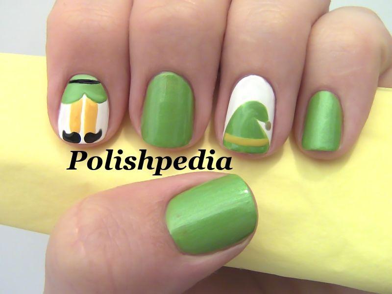 Christmas nail art | Christmas Elf Nail Art | Polishpedia ...