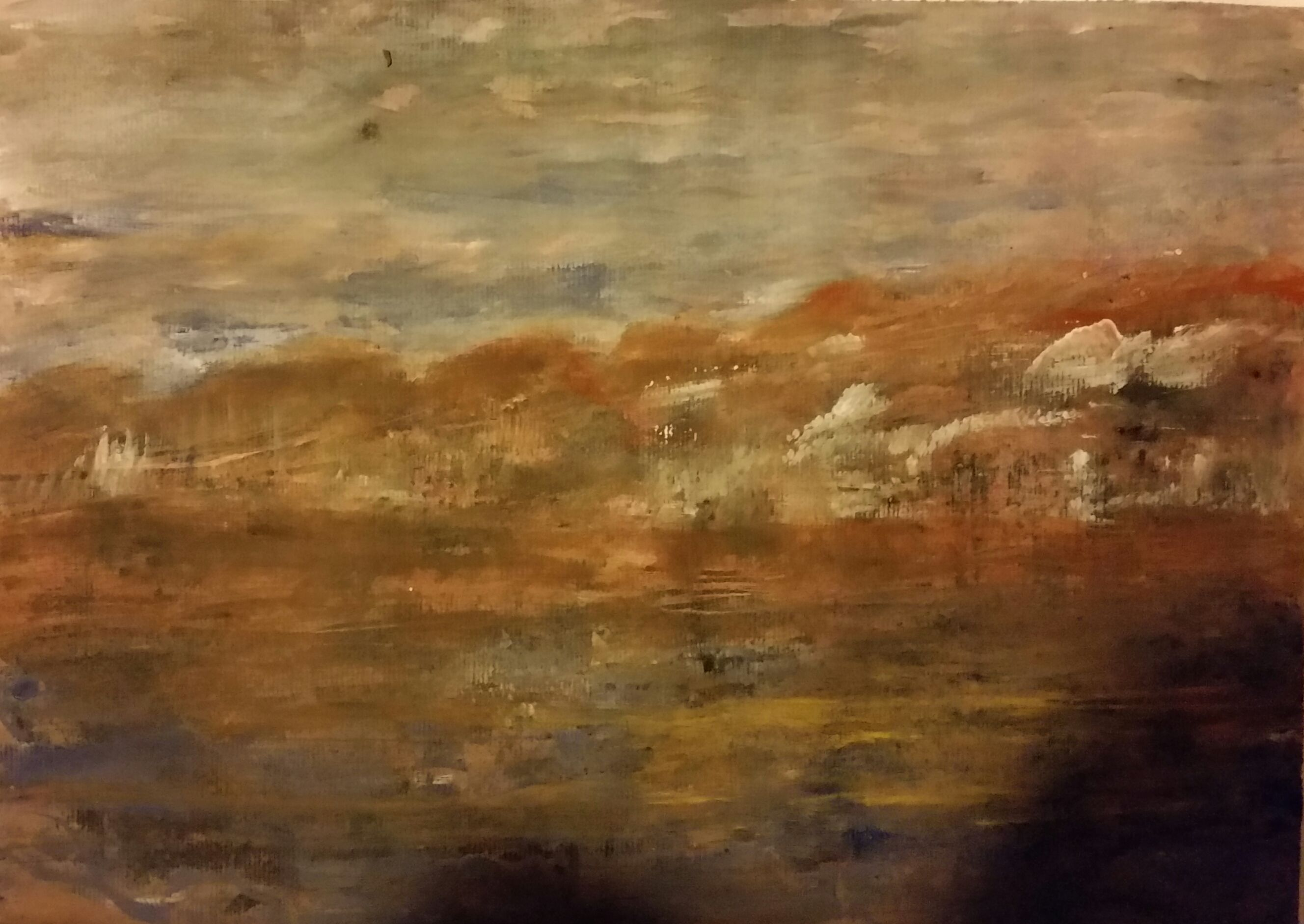 Mountains (gesso/bister/color pigments on paper - 211015