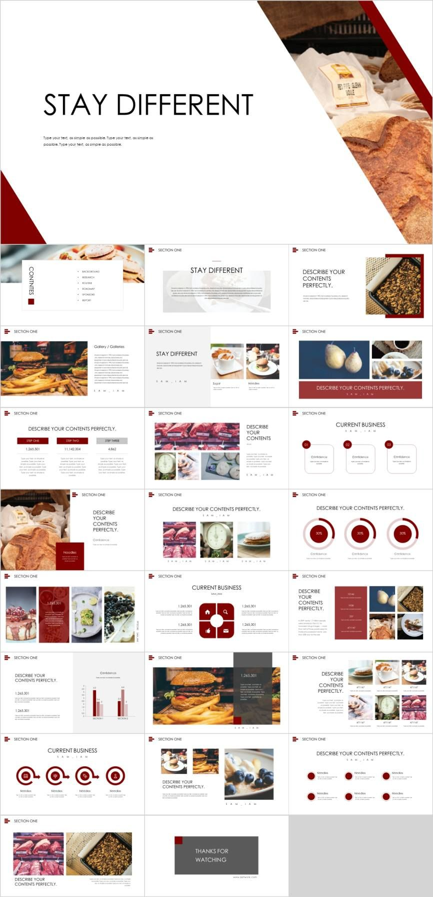 Creative food industry analysis PowerPoint template