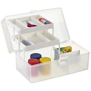 Clear Hobby Organizer Case with Handle Beauty organizer Container