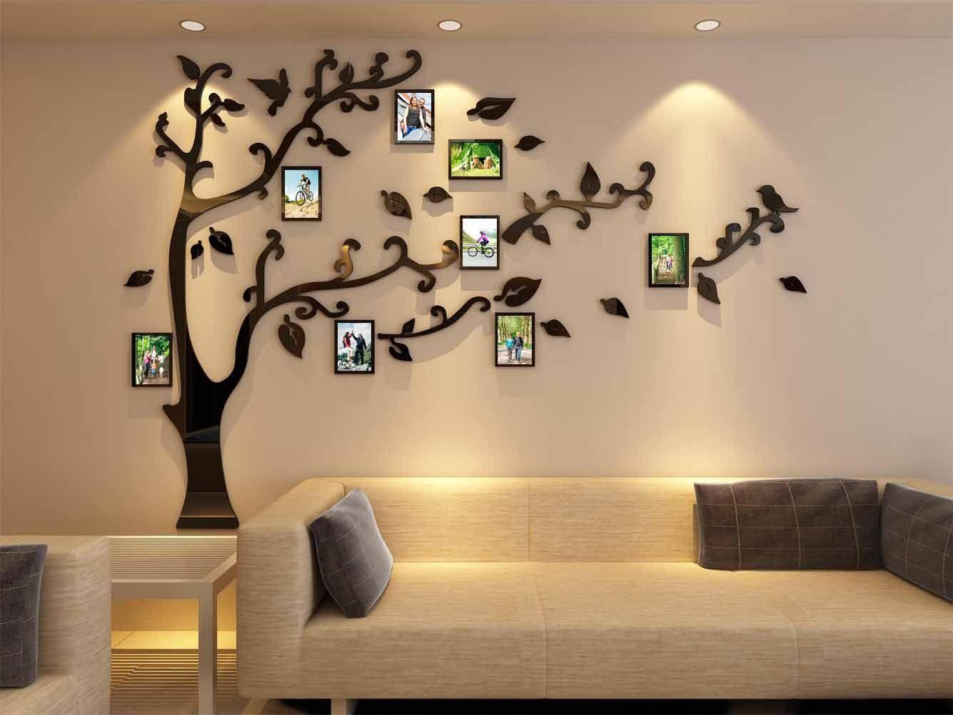 Amazon Com 3d Picture Frames Tree Wall Murals For Living Room Bedroom Sofa Backdrop Tv Wall Background O Tree Wall Murals Wall Decor Amazon Wall Decor Decals