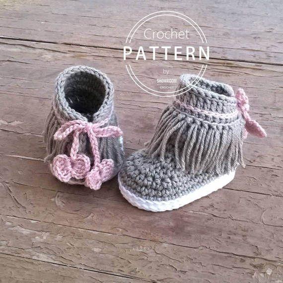 Crochet PATTERN. Dakota baby sneakers | Patrones, Tejido y Bebe