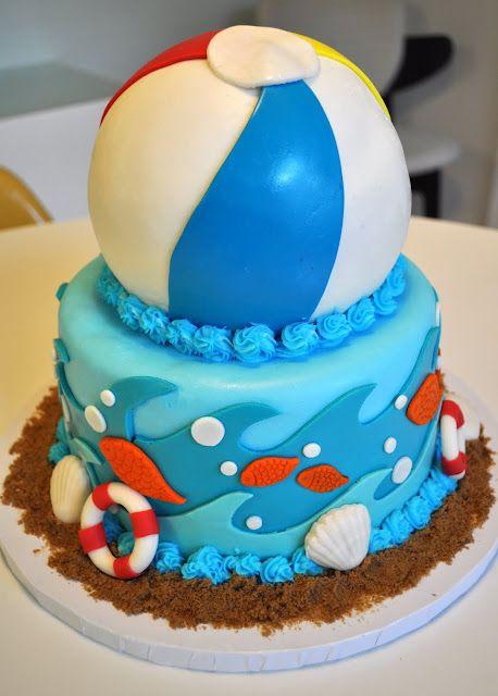 Beach Ball Cake Fun Cakes Pool Cake Beach Ball Cake Cake