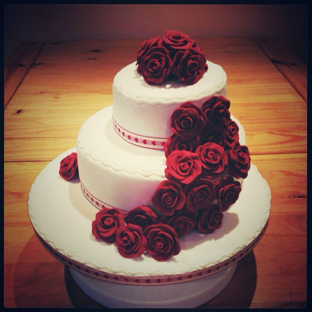Ruby Anniversary Cake Cake