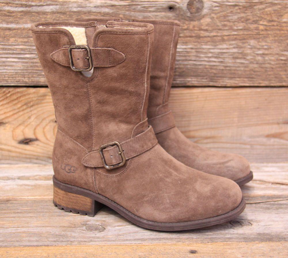 UGG Australia Womens Chaney Espresso Suede Sheepskin Boots US 9 UK 7.5 EU 40 #UGG
