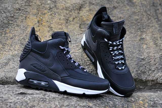 the best attitude 0b0c6 e4ec3 Nike Air Max 90 Winter Sneakerboot Ice Men s Black White 2017 UGN369   Nike  Max