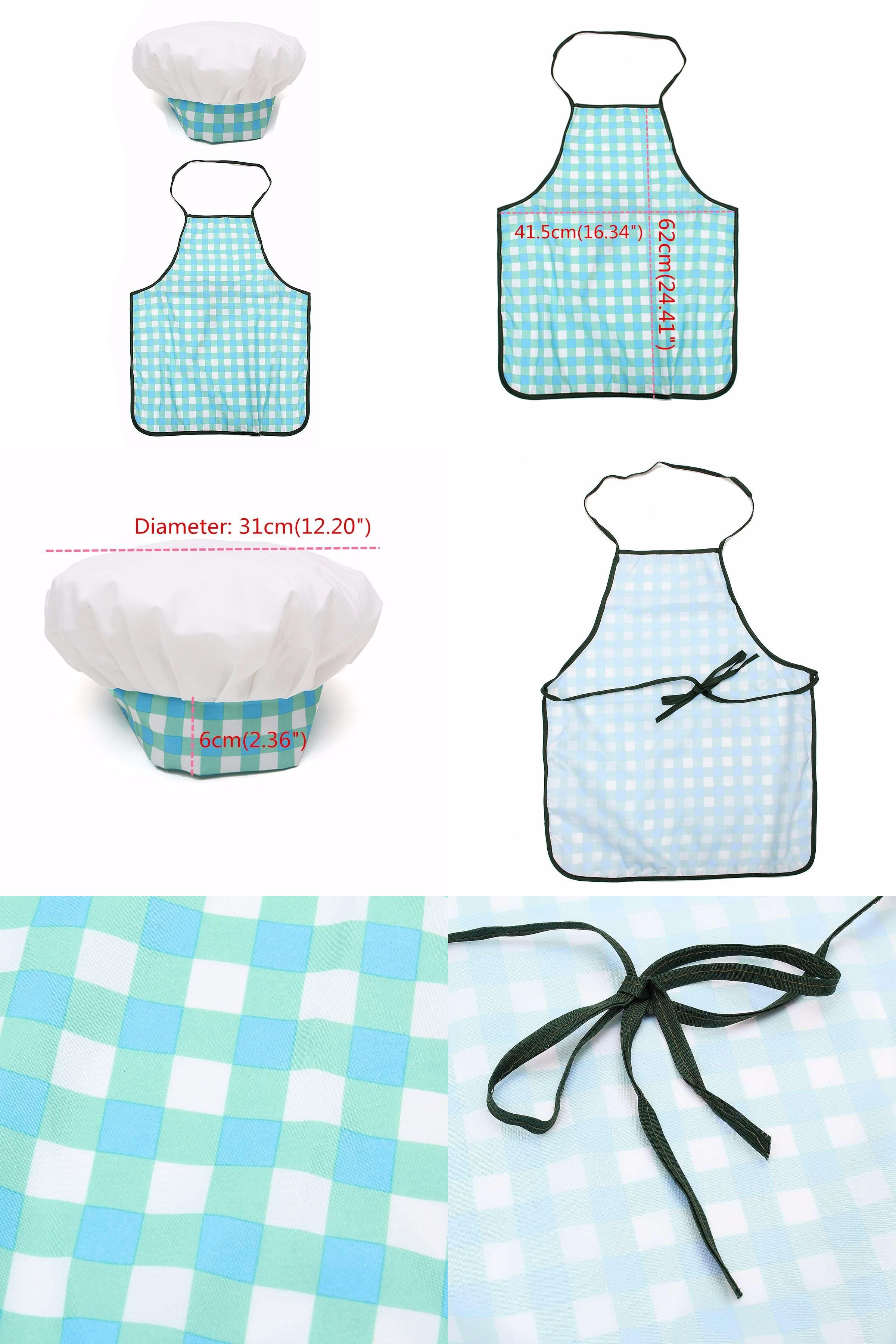 Visit to Buy] 1 Set Children Kids Cook Painting Apron Hat Costume ...