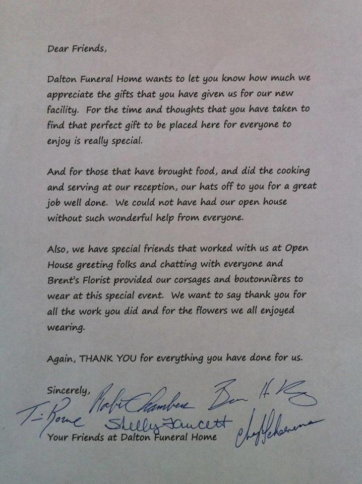 Letter of Gratitude\
