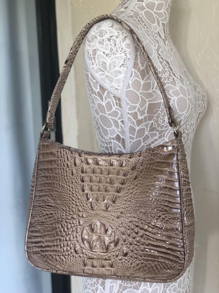 8b623b2263 Brahmin Noelle Shoulder Bag Travertine Melbourne Leather Beige in ...
