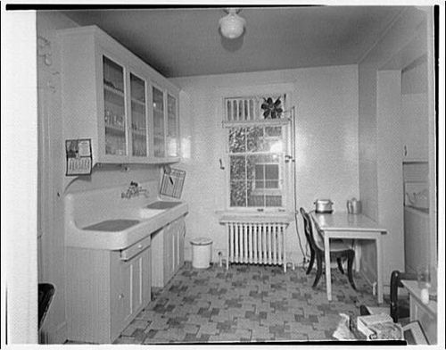1920s 1930s kitchen from library of congress 1930s for 1920 kitchen design ideas