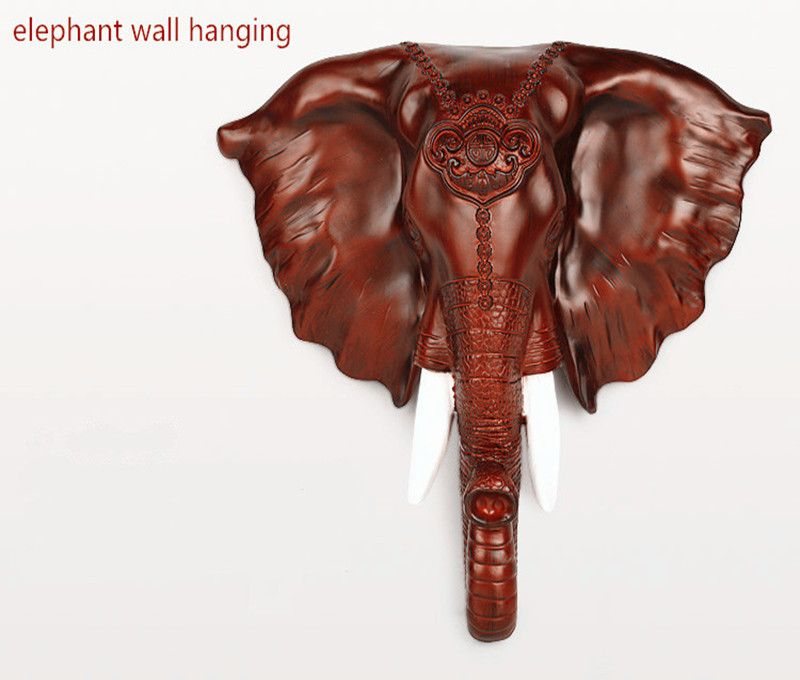 Resin Elephant Head Hanging Wall Decoration Modern European Household Adornment Is Hanged On The Wall To Bring Good Luck Elephant Head Wall Decor Decor