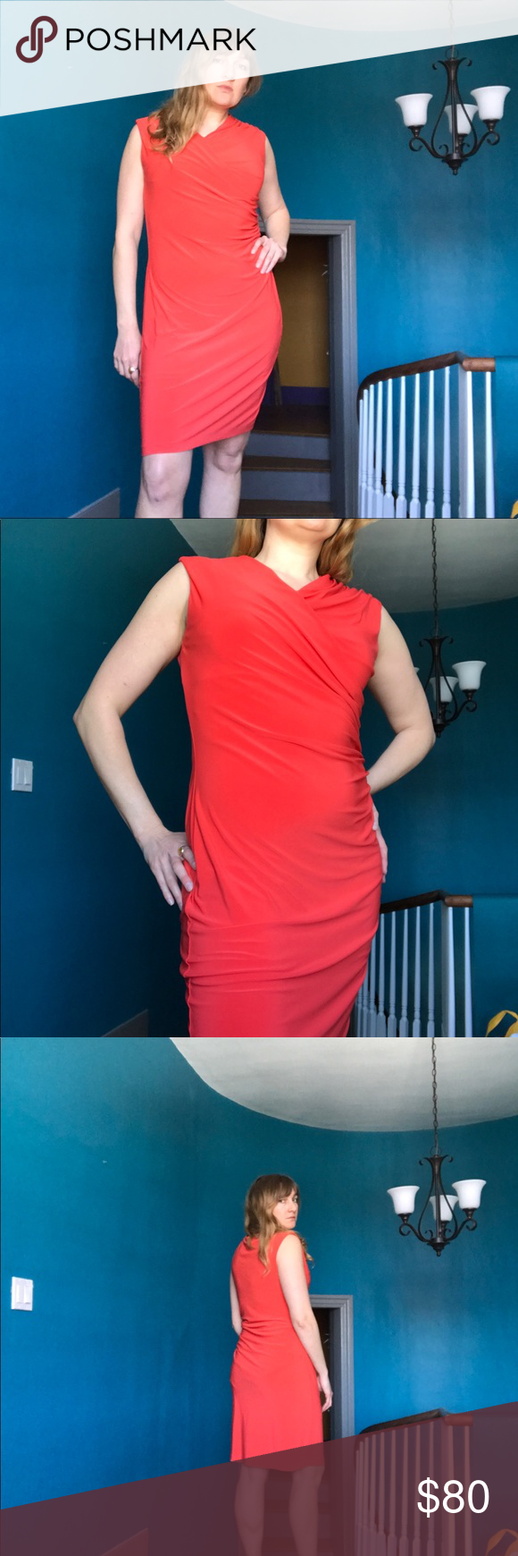 Vince Camuto Red Dress Red Dress Clothes Design Fashion [ 1740 x 580 Pixel ]
