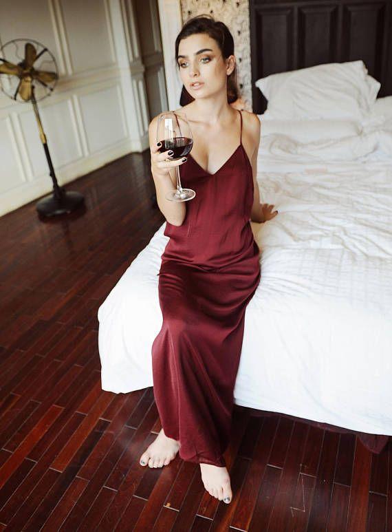 1054d2712 Sexyback/ backless slip dress/ low back/ silk dress/ sleepwear/ bridal  bridesmaid wedding maxi romantic gift for her