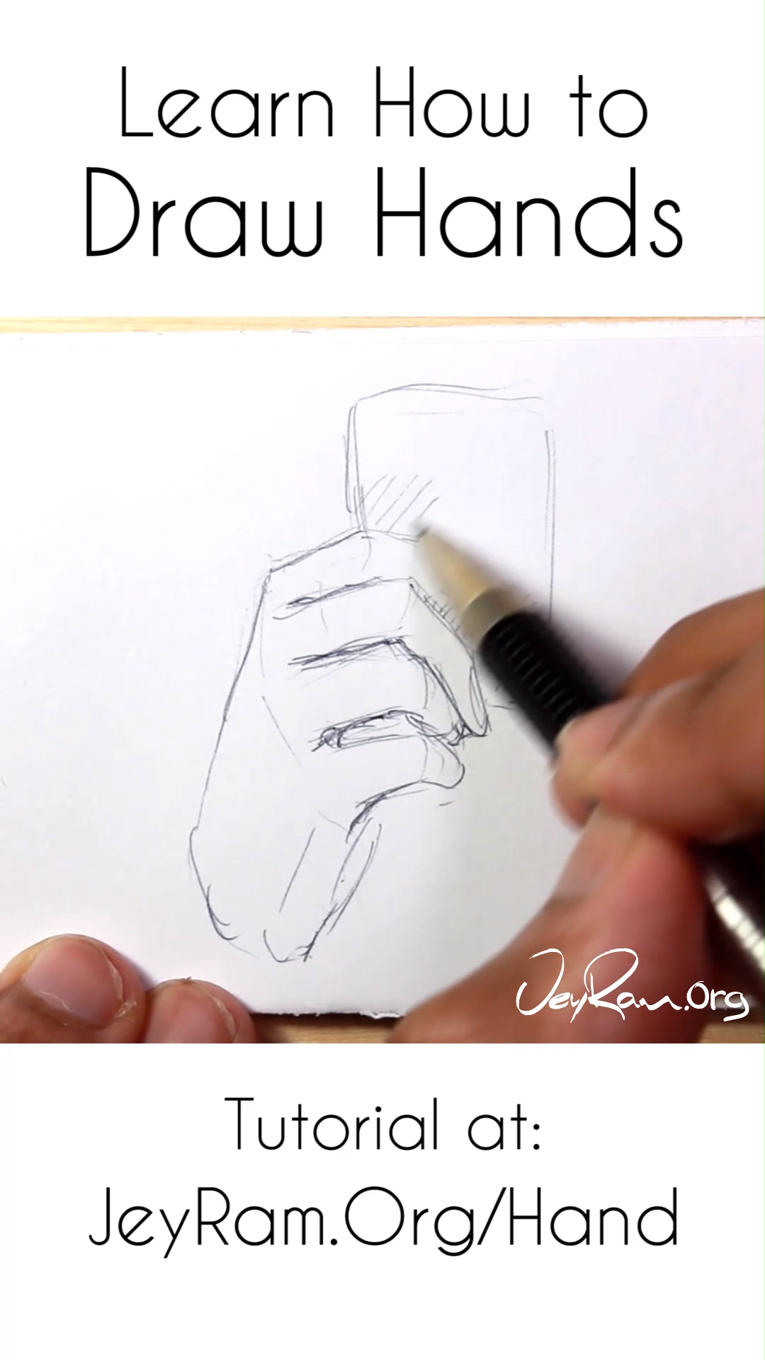 Learn How To Draw Hands Tutorial Video How To Draw Hands Drawings Hands Tutorial