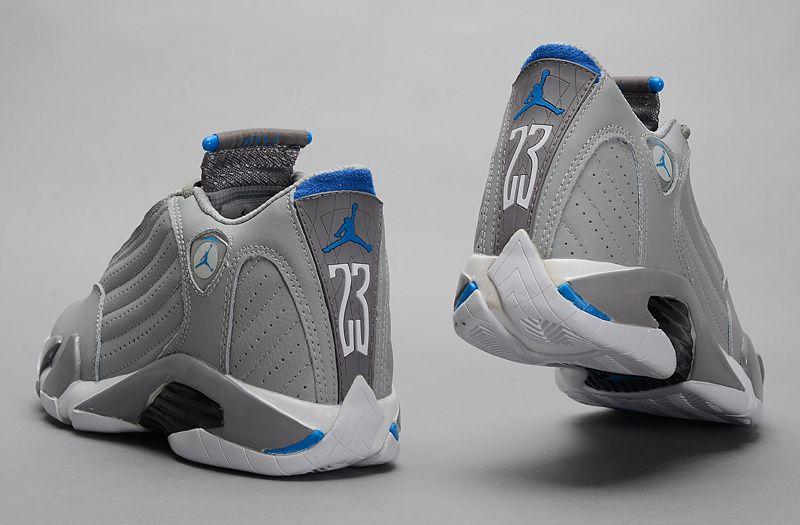 Air Jordan 14 grey and blue | Jordan
