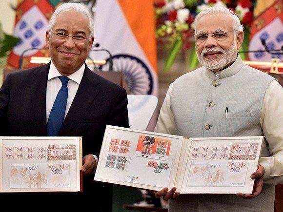 Prime Minister Narendra Modi With His Portugal Counterpart Antonio