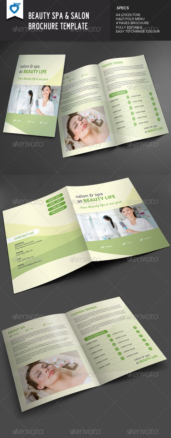 Beauty Spa  Salon Brochure  Beauty Spa Beauty And Brochures