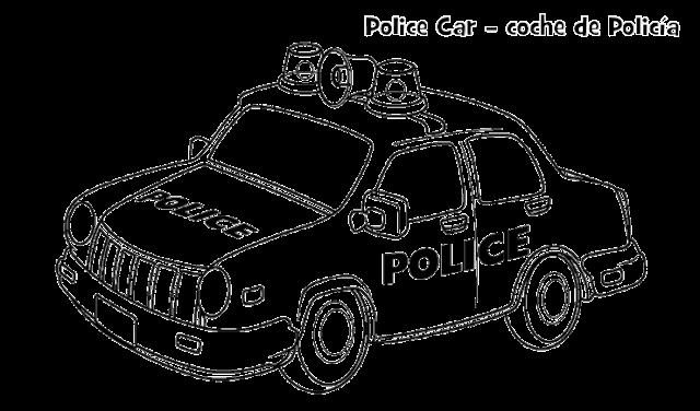 Mewarnai Gambar Mobil Polisi Mobil Polisi Halaman Mewarnai Warna