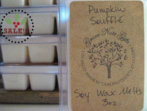 PUMPKIN SOUFFLE Soy Wax Tarts Pumpkin Souffle by GraceNoteGifts, $3.00