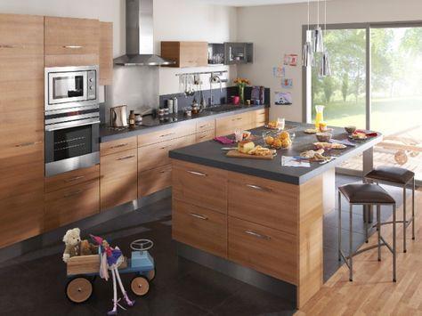 Un îlot central pour une cuisine ouverte conviviale Nest - Plan De Cuisine Moderne Avec Ilot Central