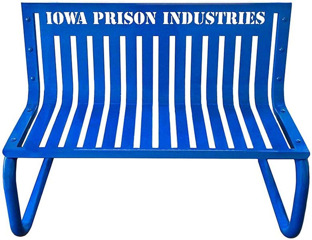 Personalized Park Bench Cantilever Base Iowa Prison Industries Park Bench Bench Park