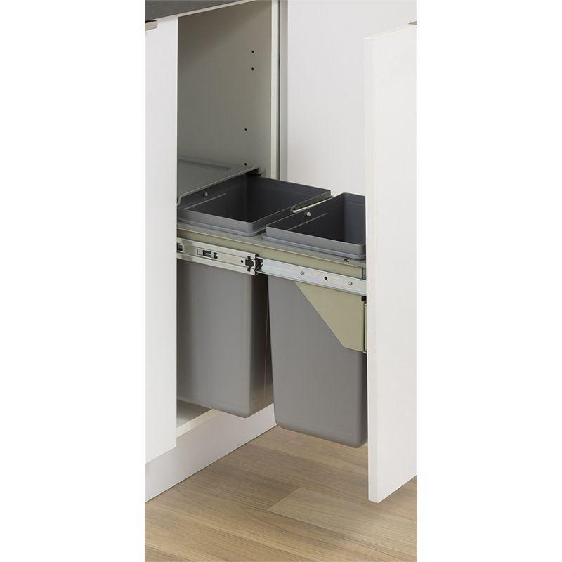 kaboodle 2 x 11l side mount pullout bin swing bins kitchen storage storage on kaboodle kitchen bunnings drawers id=27723