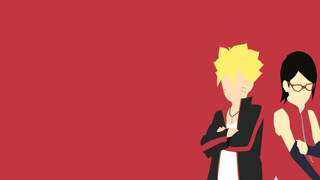 Sasuke Minimalista Fondo: Boruto And Sarada (Naruto Gaiden)