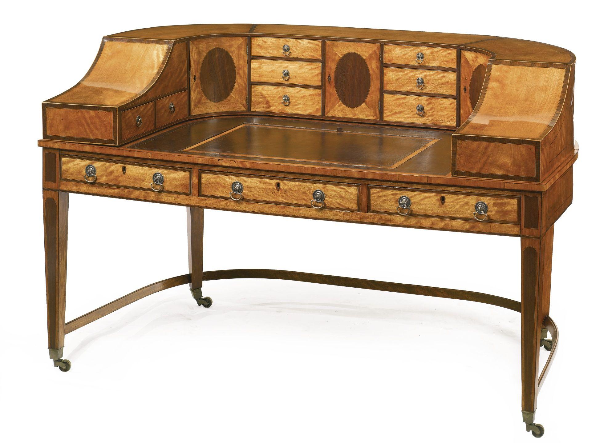 A Fine George III Inlaid Satinwood And Rosewood Carlton House Desk, Circa  1790